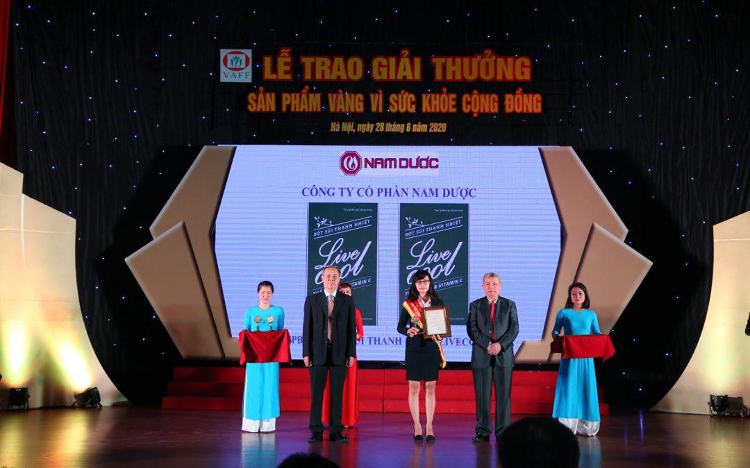Đài truyền hình đưa tin Sủi thanh nhiệt Livecool đạt giải vàng vì sức khỏe cộng đồng năm 2020